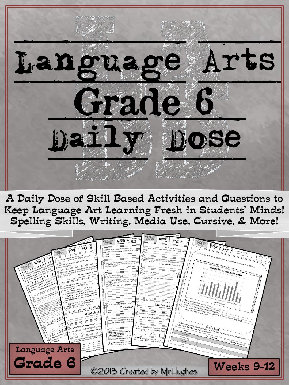 Language Arts Daily Dose Weeks 9-12 Art