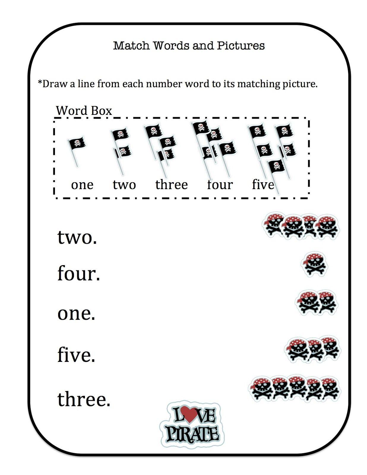 Preschool Printables Pirate