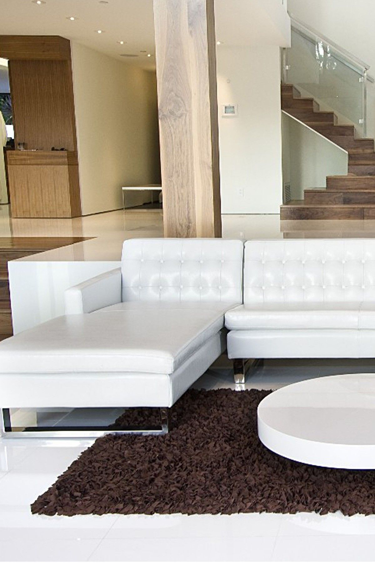sloan white 2piece left arm faux leather sectional on hautelook sofas for small spaceshome living roomchaise