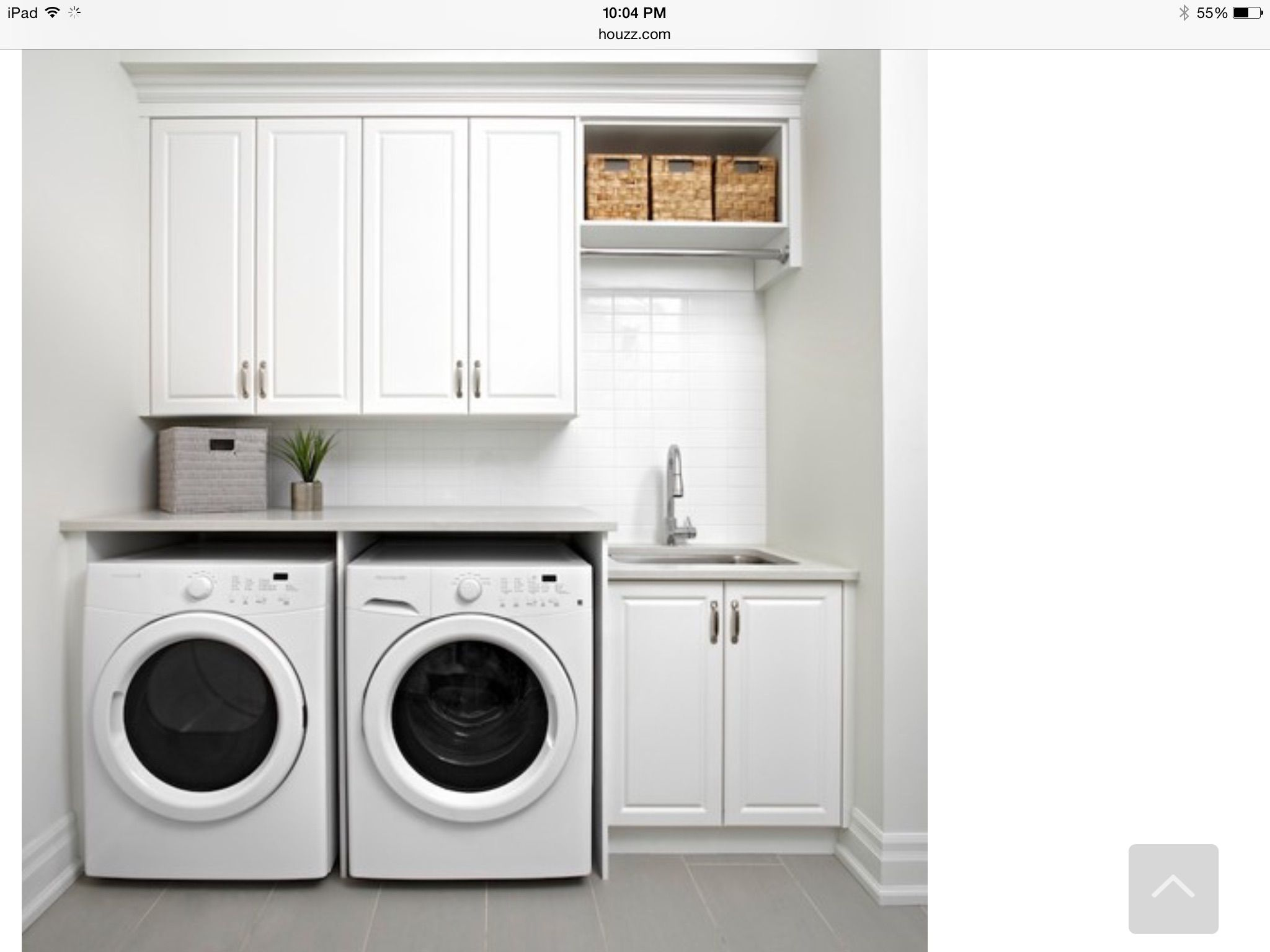 Laundry Two Doors One In Front Of The Washer Dryer And One Next