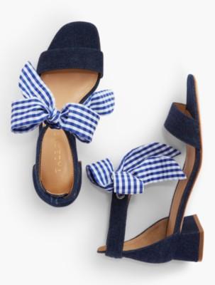 9dda6e1ea48 Naomi Scarf-Tie-Denim Sandals in 2019
