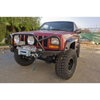 Extreme Front Winch Bumper With Brush Guard Jeep Cherokee Xj