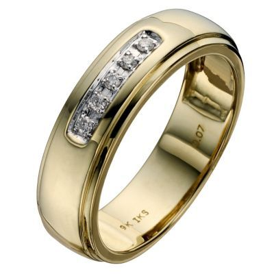 Perfect Fit 9ct Two Colour Gold Wedding Ring H Samuel The Jeweller A Timeless