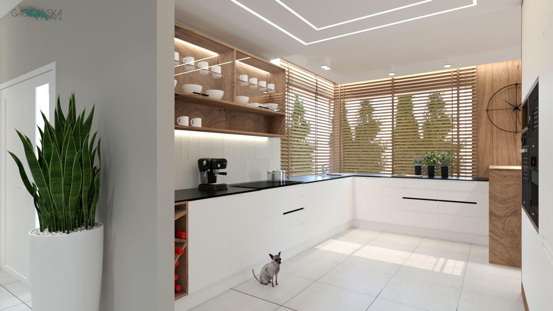 Kuchnia Nowoczesna W Bieli Moze Byc Kontrastowa Poprzez Zastosowanie Ciemnego Kamiennego Blatu Efekt Spotegujemy Poprzez Zastosowanie Plytek Home Alcove Agd