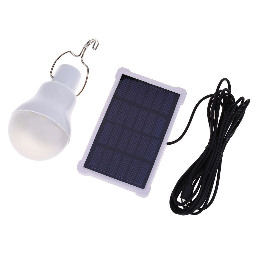 Solar Panel Led Light Bulb Camping Outdoor System Kit Remote