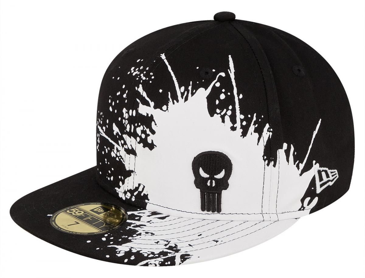 Punisher Splatways 59Fifty Fitted Baseball Cap by MARVEL x NEW ERA ... f4def658545