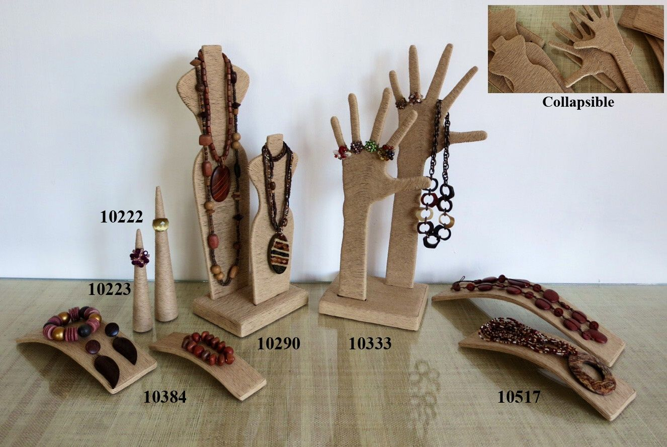 Paper Twine Corded Paper Mache Jewelry Displays Jewellery Display Jewelry Stand Display