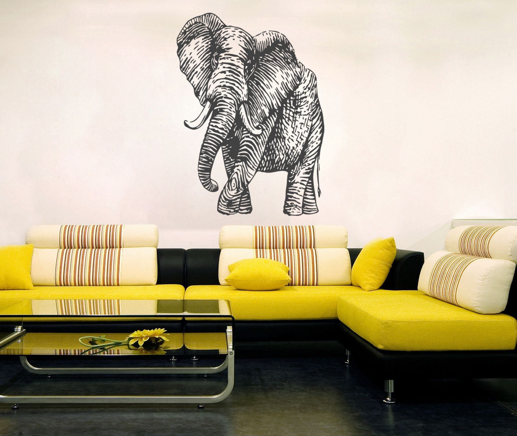 ik273 Wall Decal Sticker Decor elephant interior bed | Wall decal ...