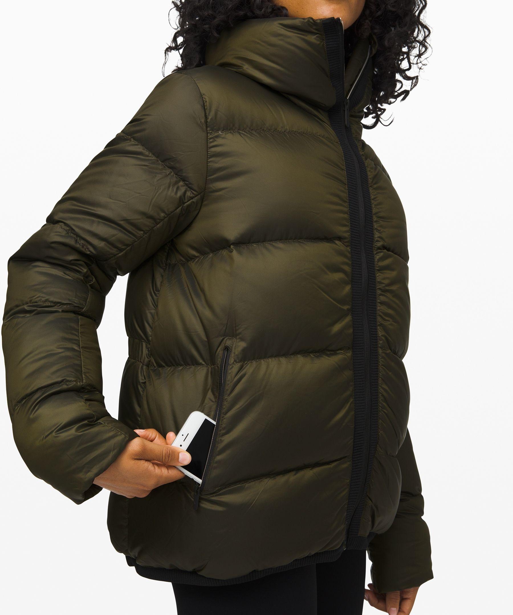 lululemon Cloudscape Jacket, Dark Olive, Size 8 in 2020