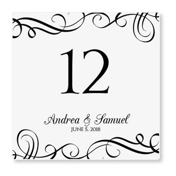 INSTANT DOWNLOAD Wedding Table Number Card by DiyWeddingTemplates