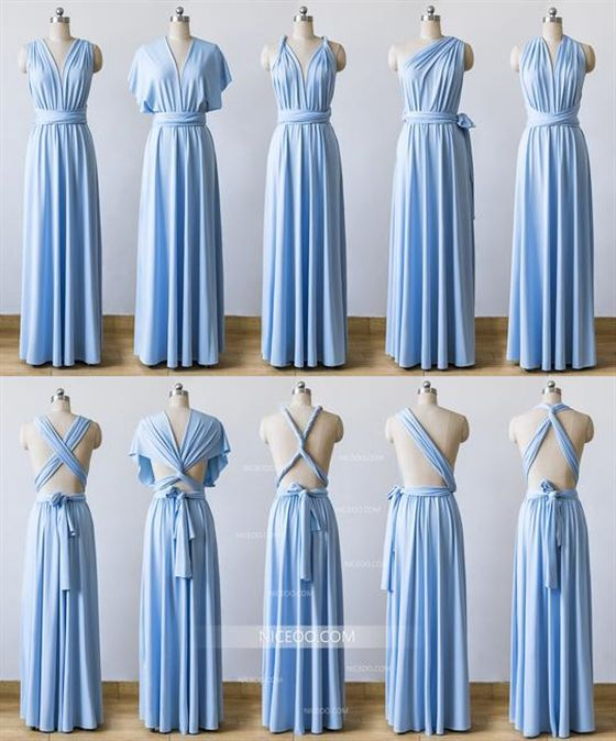 5e67191244b Light Blue Maxi Infinity Bridesmaid Dresses