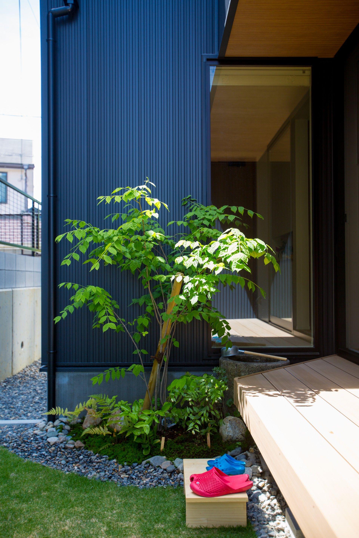 和の風合いが心地良い中庭 ルポハウス 設計事務所 工務店 設計士