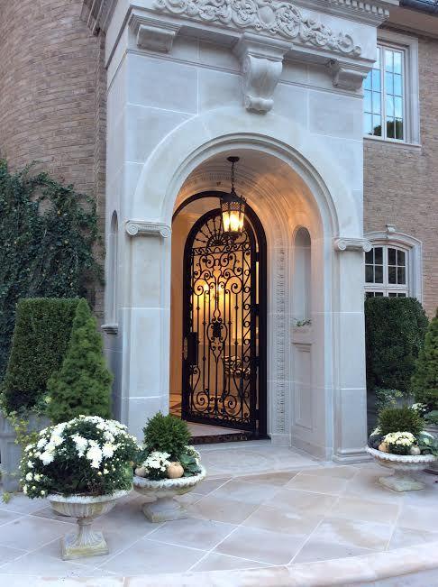 Impressive and elegant entrance for Grand front doors
