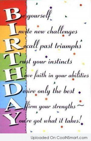 Birthday Quotes Sayings For 40th 50th 60th Birthdays Card