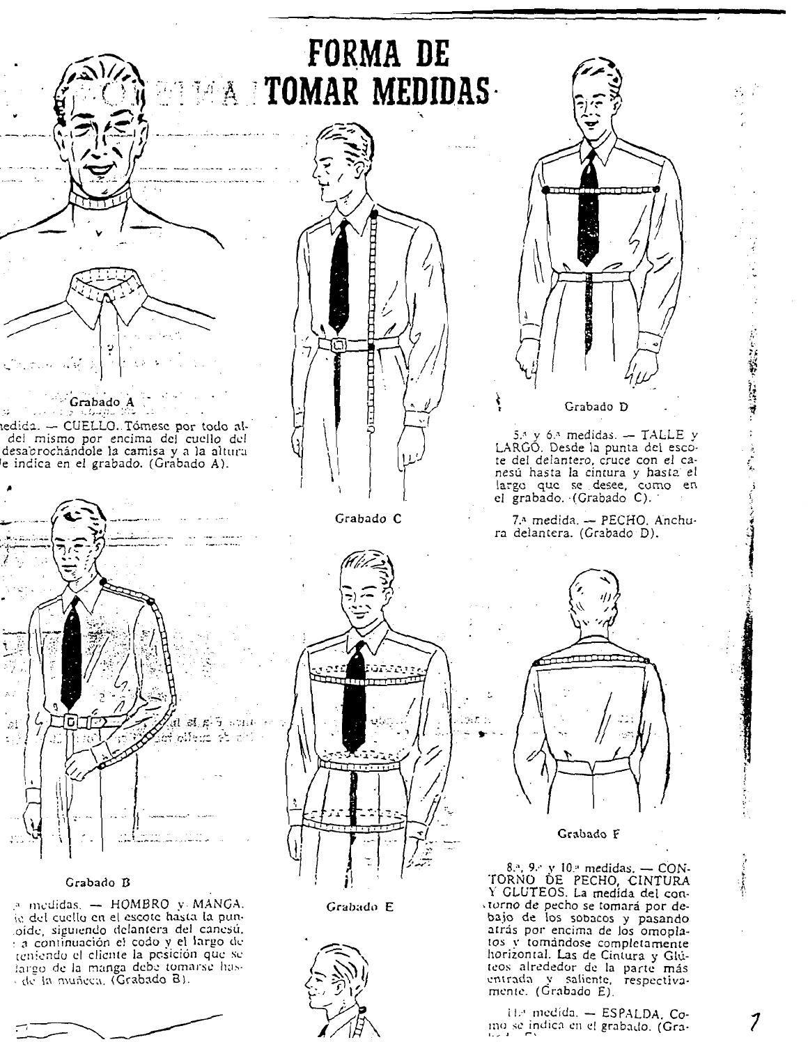Manual de sastreria masculina forma de tomar medidas(1) patrones ...