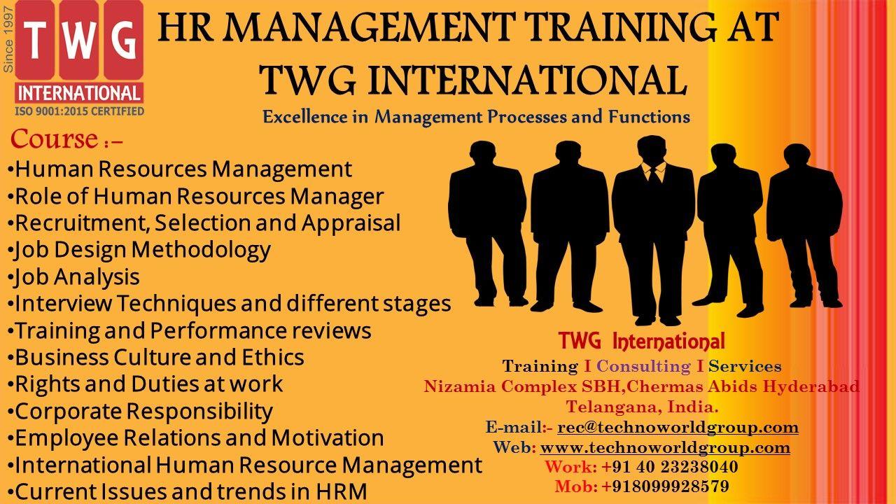 HR MANAGEMENT TRAINING AT TWGInternational