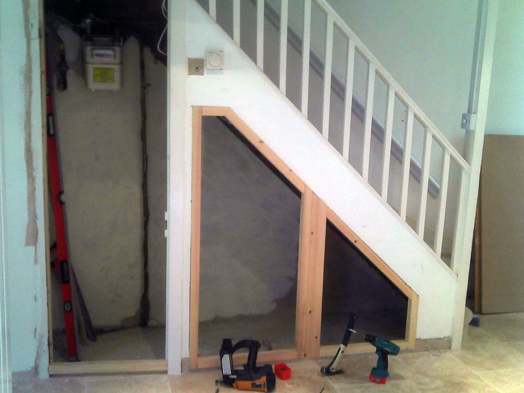 Design Under Stair Ideas brilliant functionally storage under staircase ideas on home decorating with stair grey door and