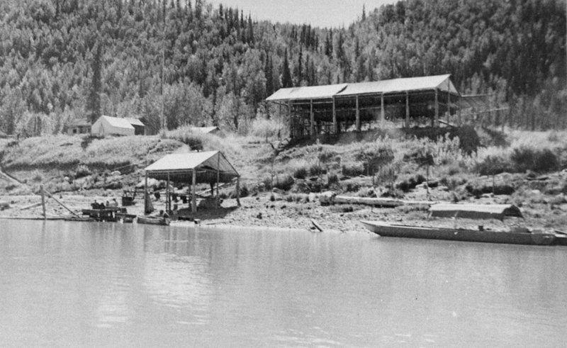Historic Biederman Camp on the Yukon River, circa 1920s