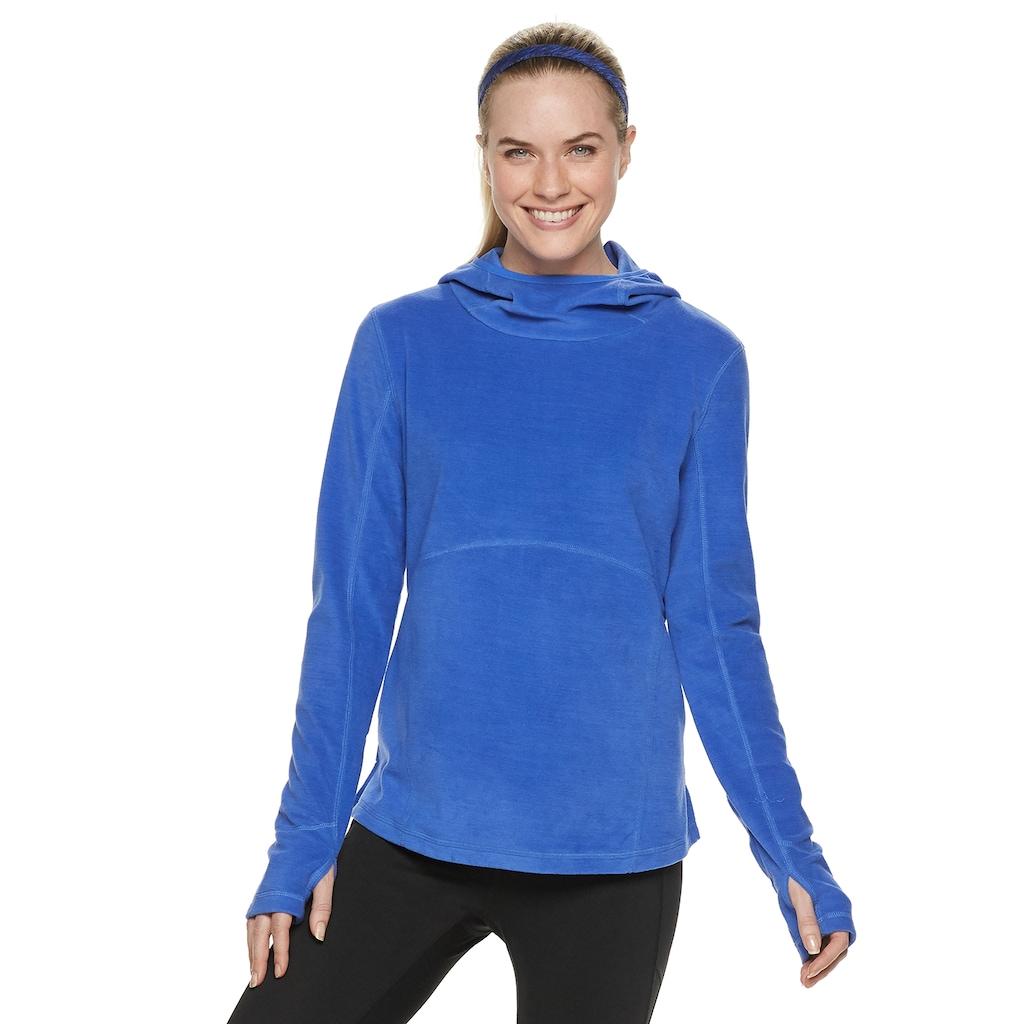 Women's Tek Gear® Microfleece Mockneck Hoodie Fashion