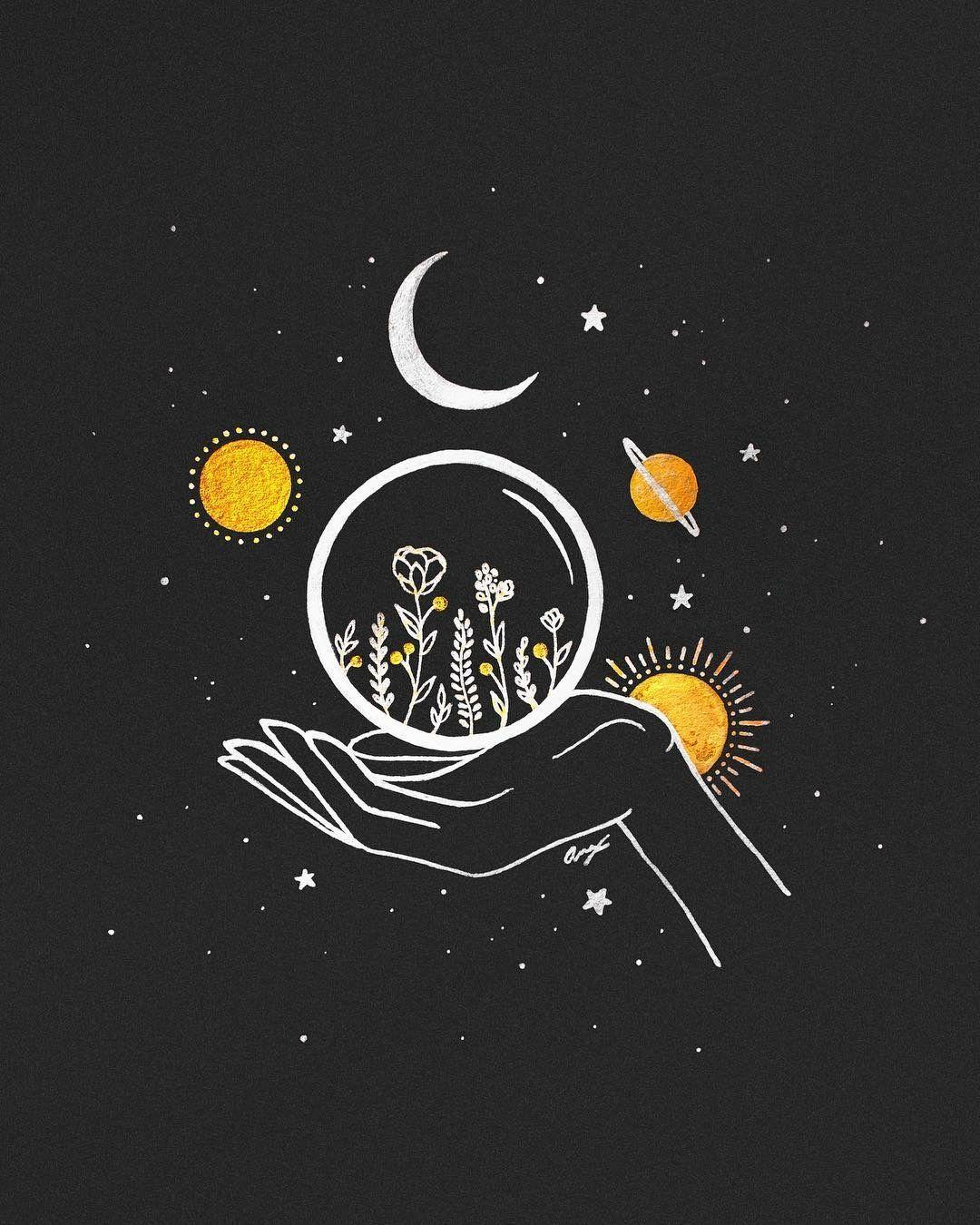 Pin By Ridwana Islam On My Kind Of Art Moon Art Art Inspiration Custom Wall Art