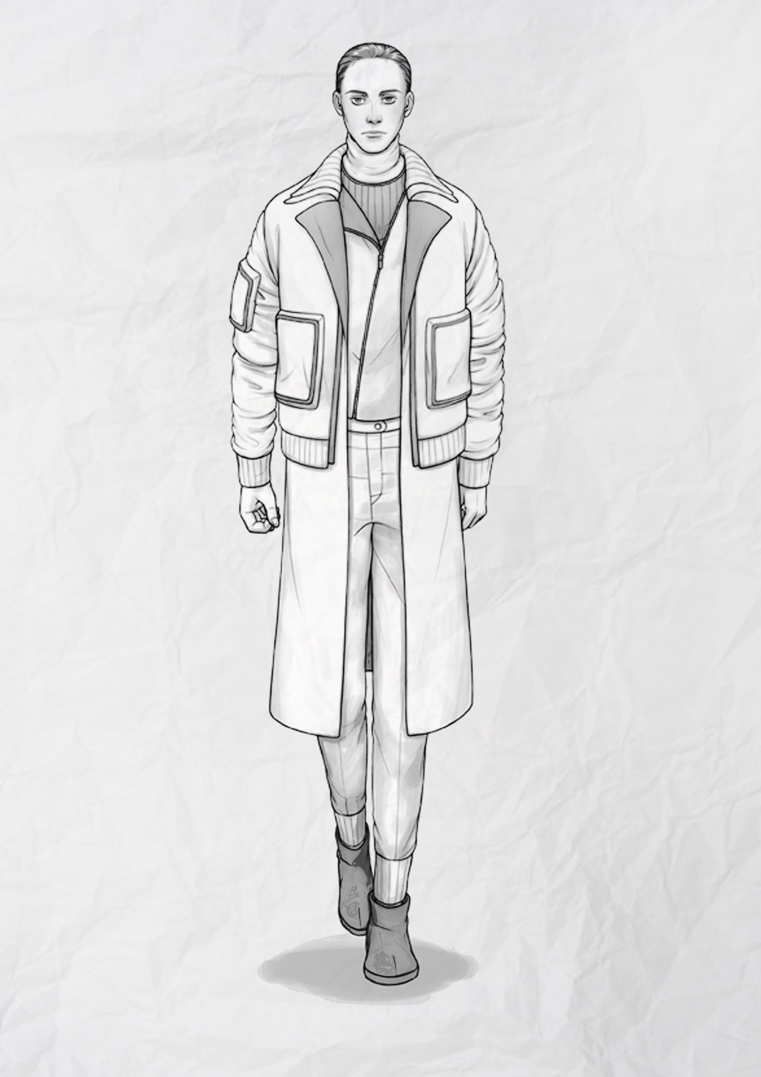 Male Fashion Illustration found on http://www.ideasfashion.co ...
