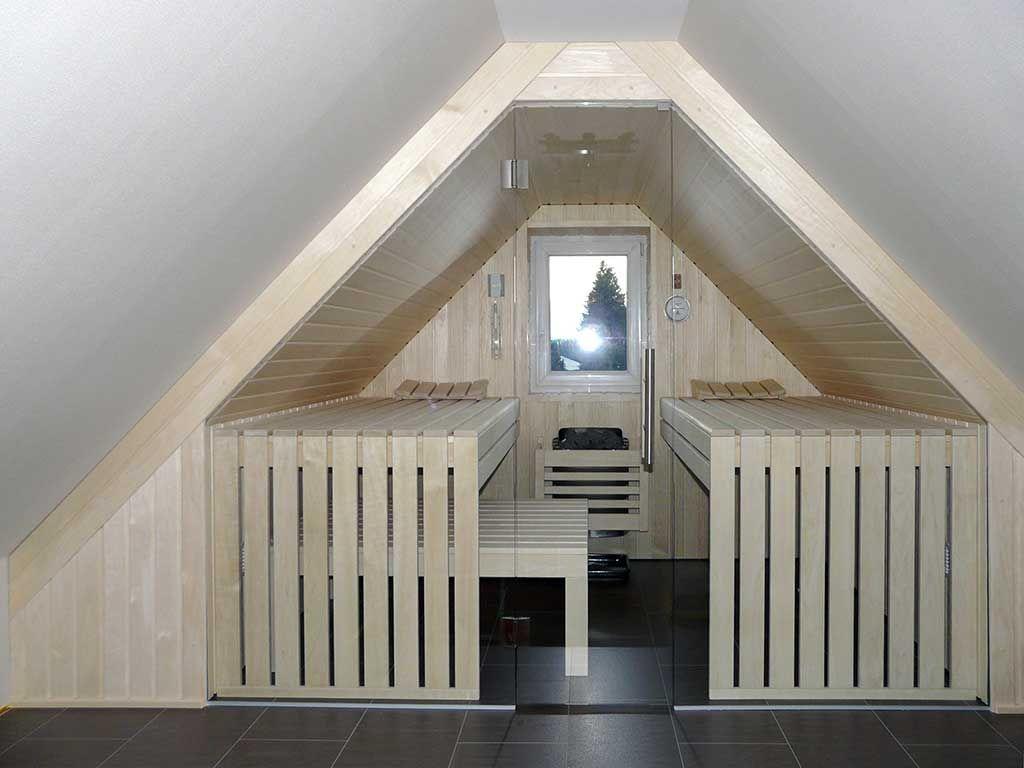 Sympathisch Sauna Für Zuhause Beste Wahl Unter Einer Dachschräge | Apart-sauna - Ihre