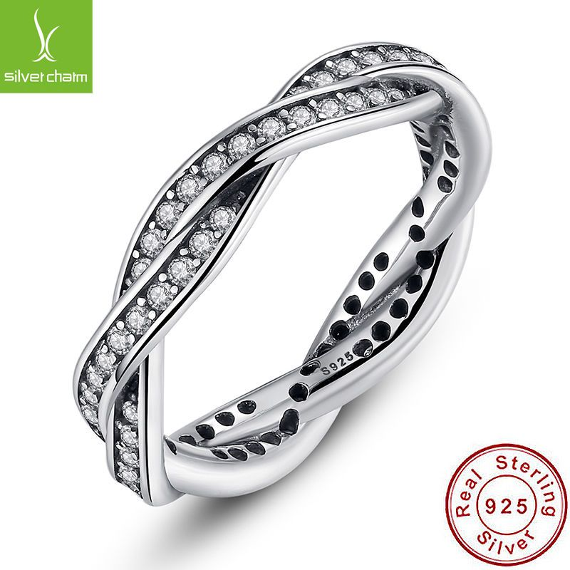 91d7c313f Authentic S925 Sterling Silver Finger Ring With Aaa Cz Twist Of Fate  Stackable