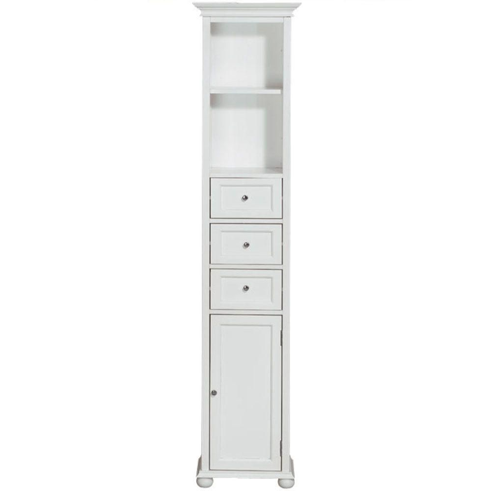 Home Decorators Collection Hampton Bay 15 in. W Linen Cabinet in ...