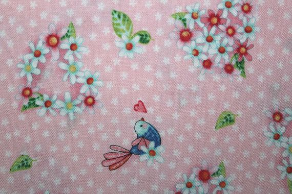Sewing, Cotton Fabric, Quilting, Quilting Fabric, Sewing Fabric, Fabric, Red Rooster Fabrics, Rainbow Woodland,  Floral