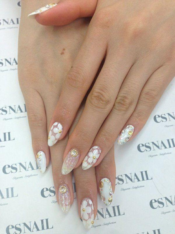 65 Japanese Nail Art Designs Cuded Bridal Nails Designs Nail Designs Wedding Nail Art Design