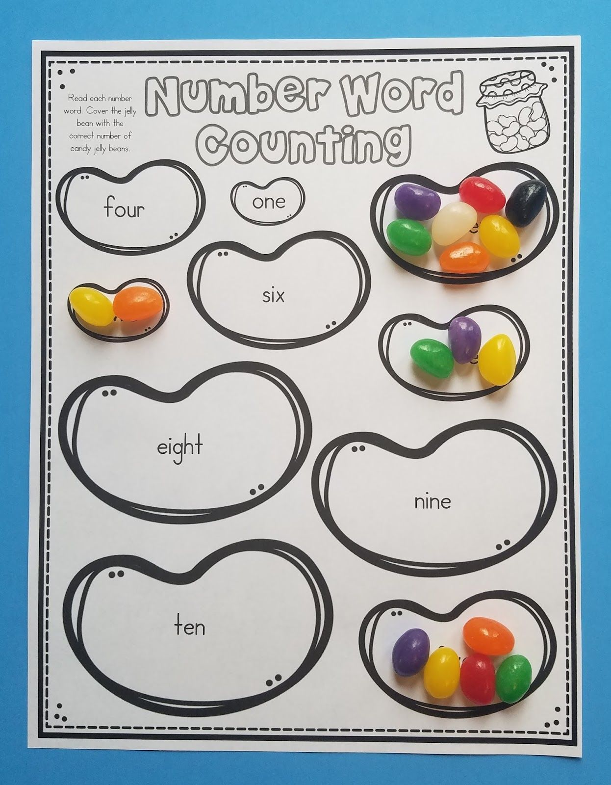 Do Your Kids Love To Use Candy During Math As Much As Mine Do Check Out My 10 Jelly Bean Math