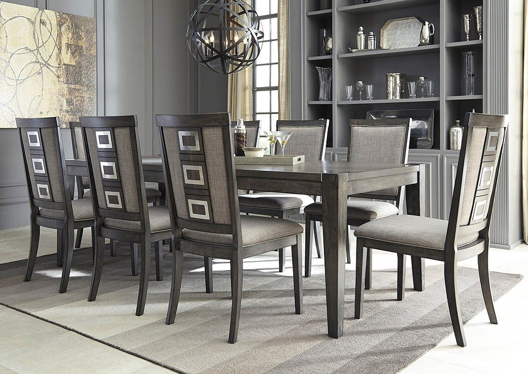 Dining Room Extension Table Chadoni Gray Rectangular Dining Room Extension Table W 8