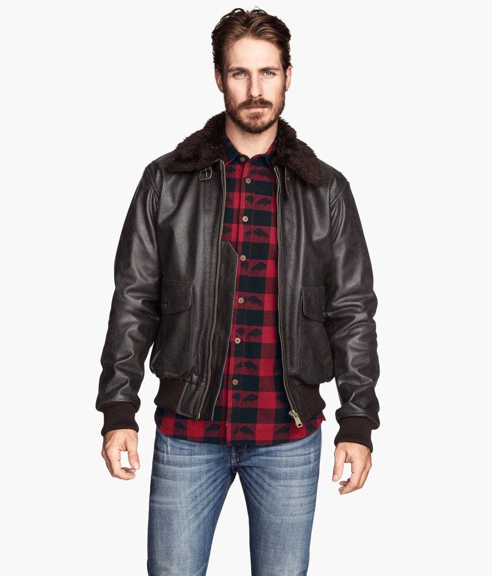 Pin by Christopher Ciesiel on WEAR Men's leather jacket
