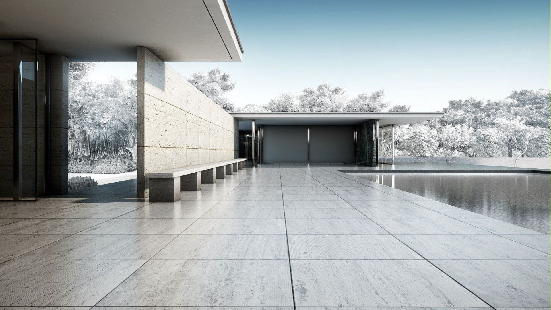 Villa tugendhat arkitalker mies van der rohe - Mies Van Der Rohe Barcelona Pavilion Mid Century Moderne Inspired House Style Pinterest Pavilion Ludwig Mies Van Der Rohe And Architecture