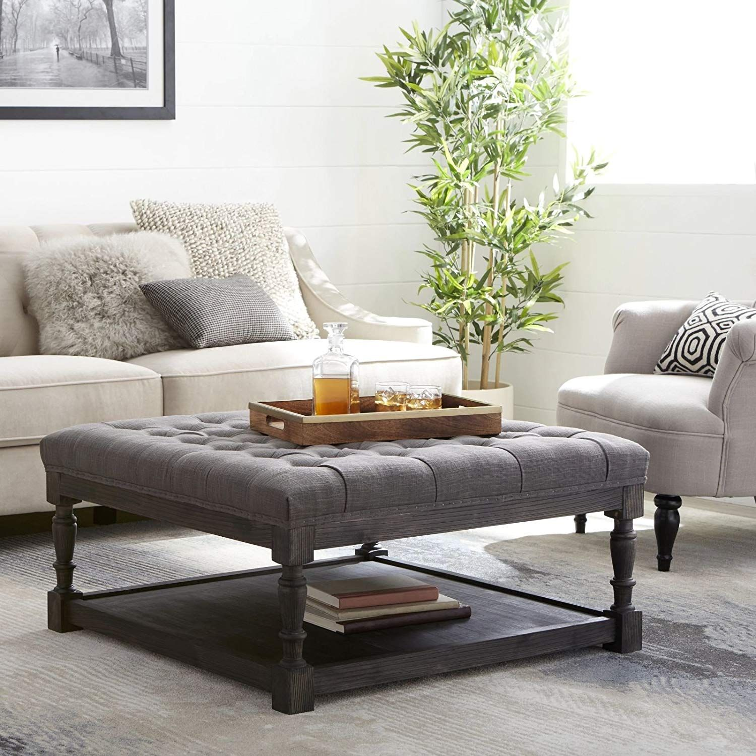 Tufted Ottoman Coffee Table Centerpiece Suitable For Living Rooms Large Storage Bench Provides C Tufted Ottoman Coffee Table Ottoman Coffee Table Coffee Table