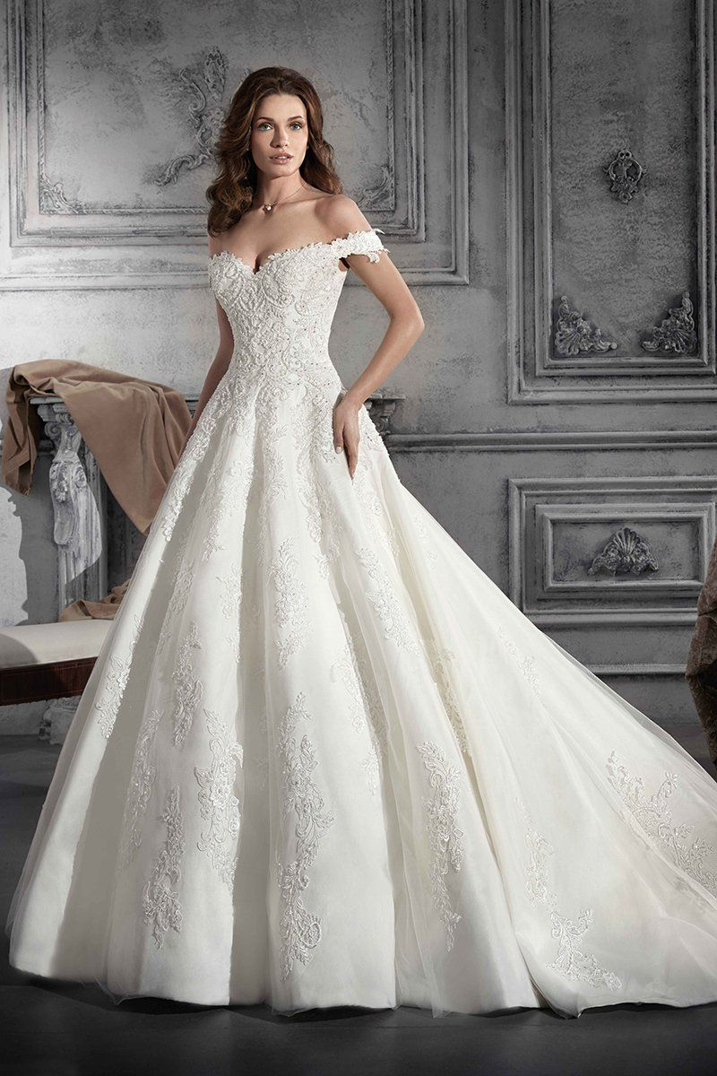 Offtheshoulder wedding dress ball gown lace wedding dress style