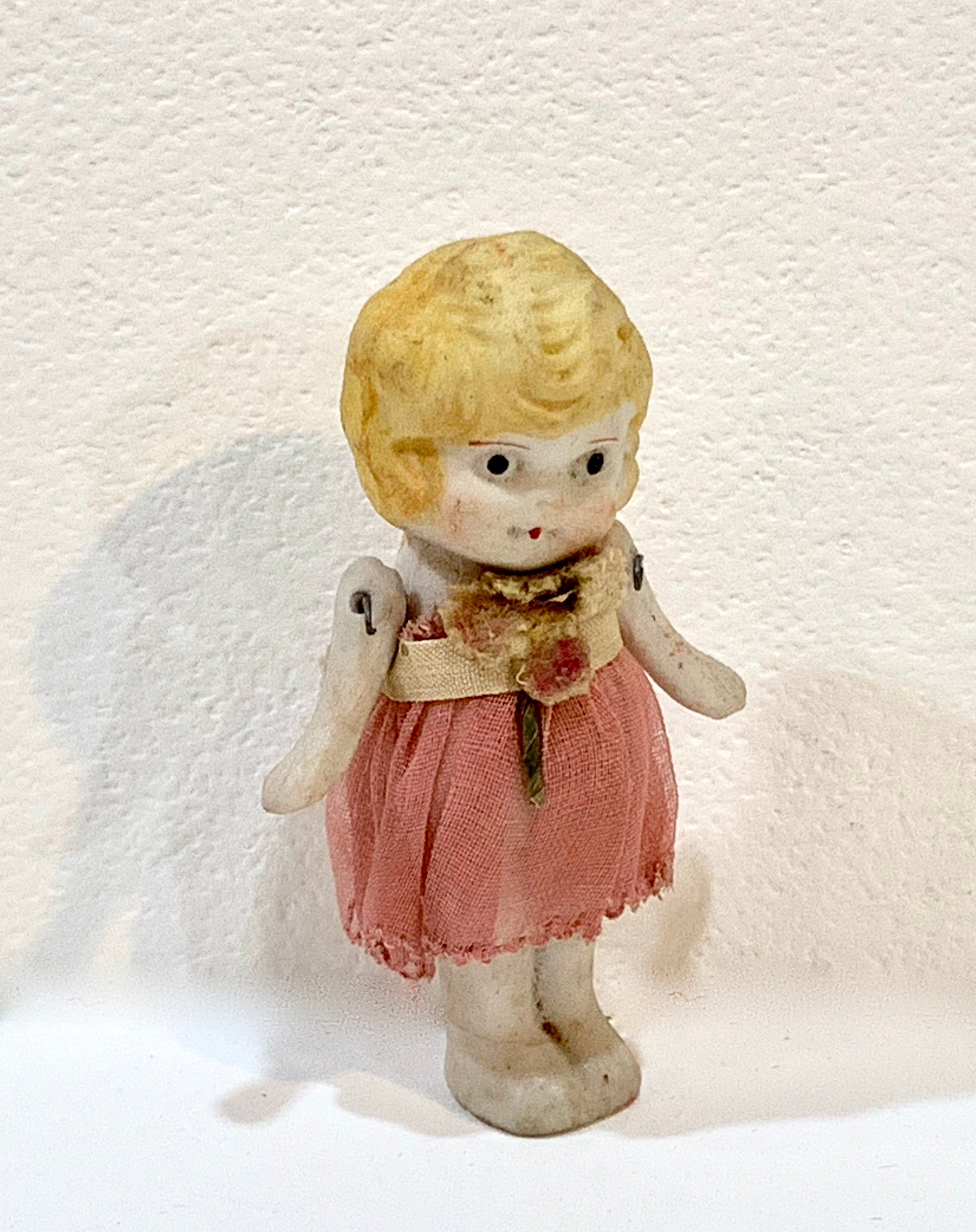 Vintage Bisque Doll, Penny Doll, Porcelain Doll, 8 inch Miniature