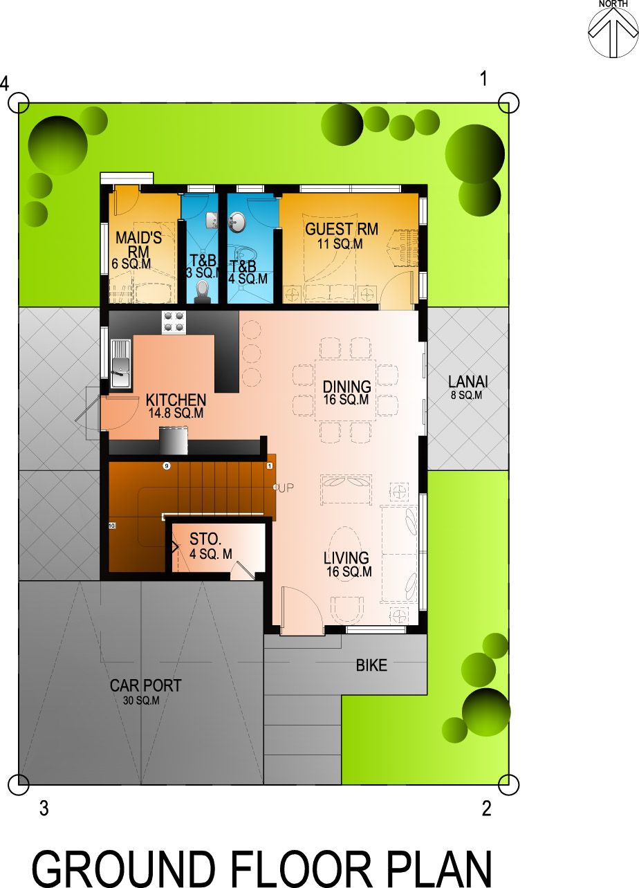 Residential 4bedroom 2 Storey House Exercise 2 Storey House Two Storey House Plans Double Storey House Plans