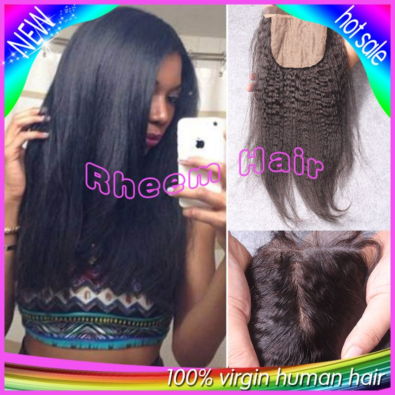 Cheap closure cap, Buy Quality part removal directly from China closure Suppliers:  (1)Hair Material:100% Brazilian human Hair(2)Hair Style:4x4kinky straight silk base closure(3)Hair De