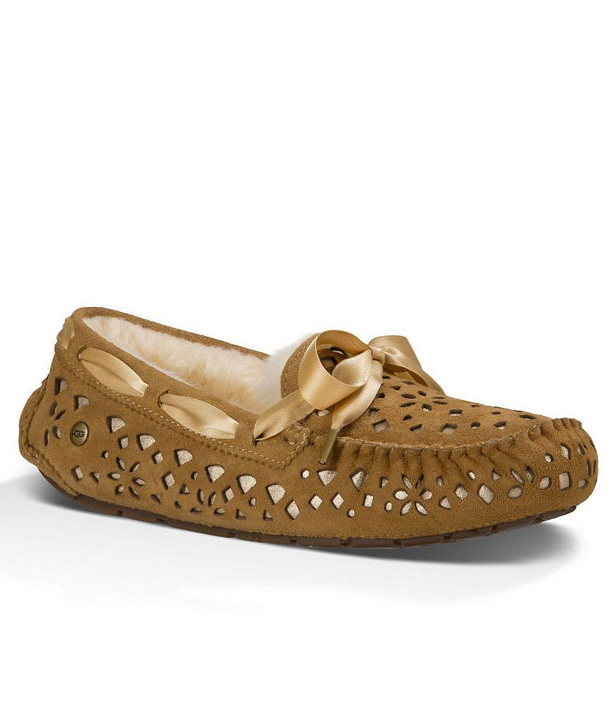 UGG Women's Dakota Flora Perf Chestnut Water Resistant Suede Slipper 7 B  (M) *** Check this awesome product by going to the link at the image.