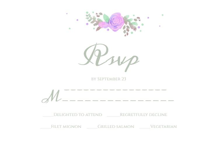 Tiered Wedding Cake Rsvp Card Template Free Cards
