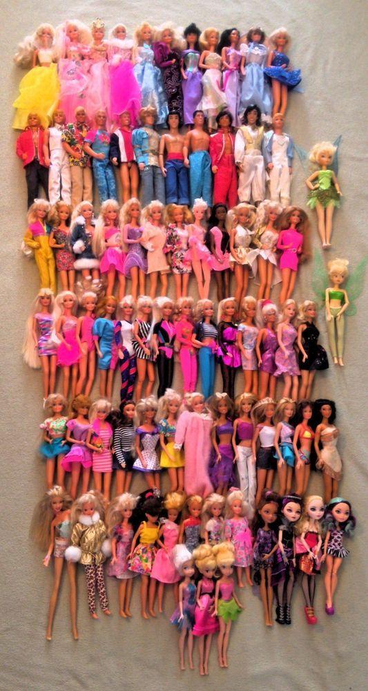 Barbie Ken Dolls Mattel Lot Vintage 80s 90s Clothes