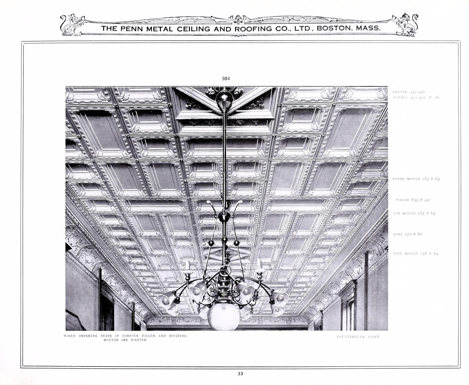 Penn Metal Ceilings 1911 Metal Ceiling Tin Ceiling Roofing