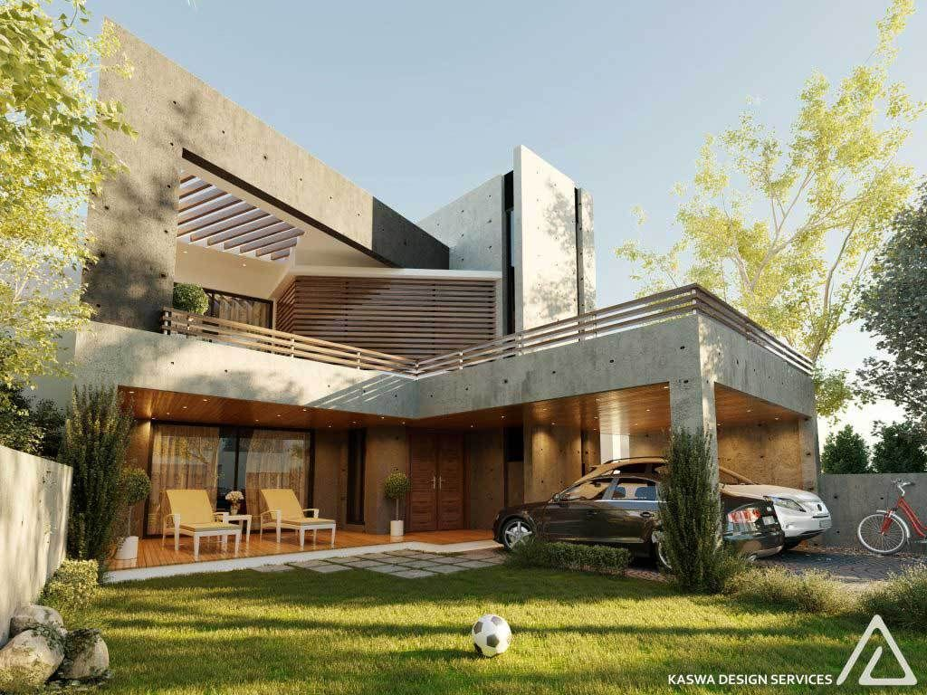 Contemporary house design by kaswa design services 1 kanal house