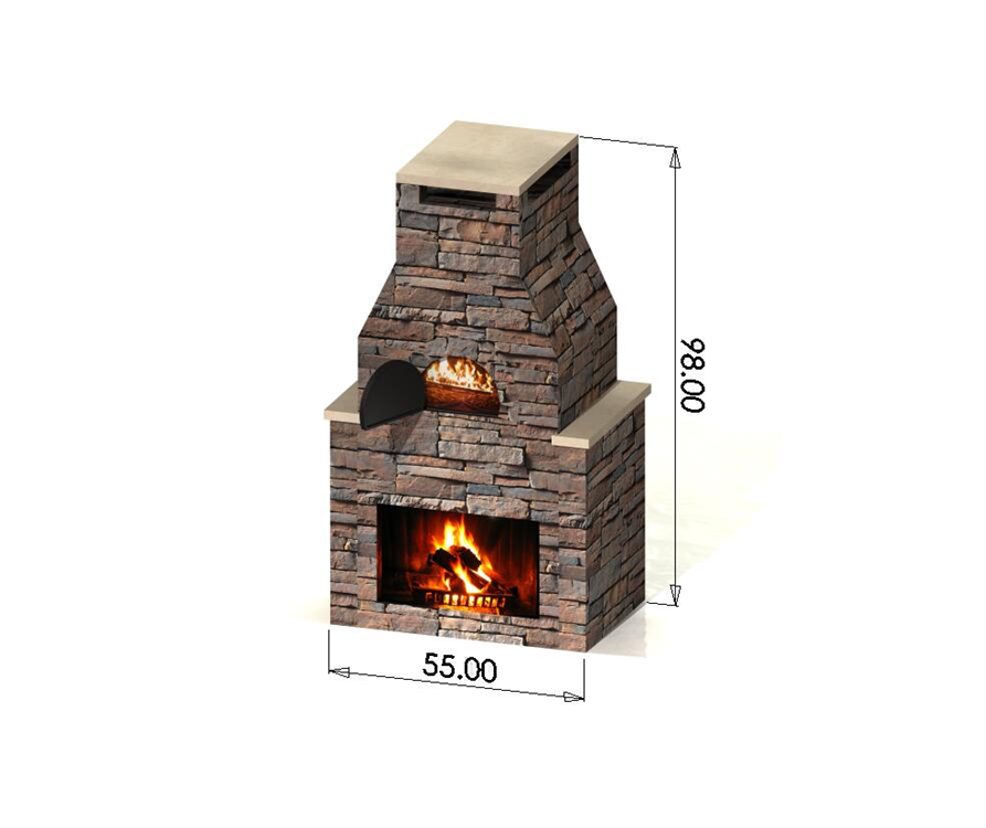 Outdoor Pizza Oven With Fireplace