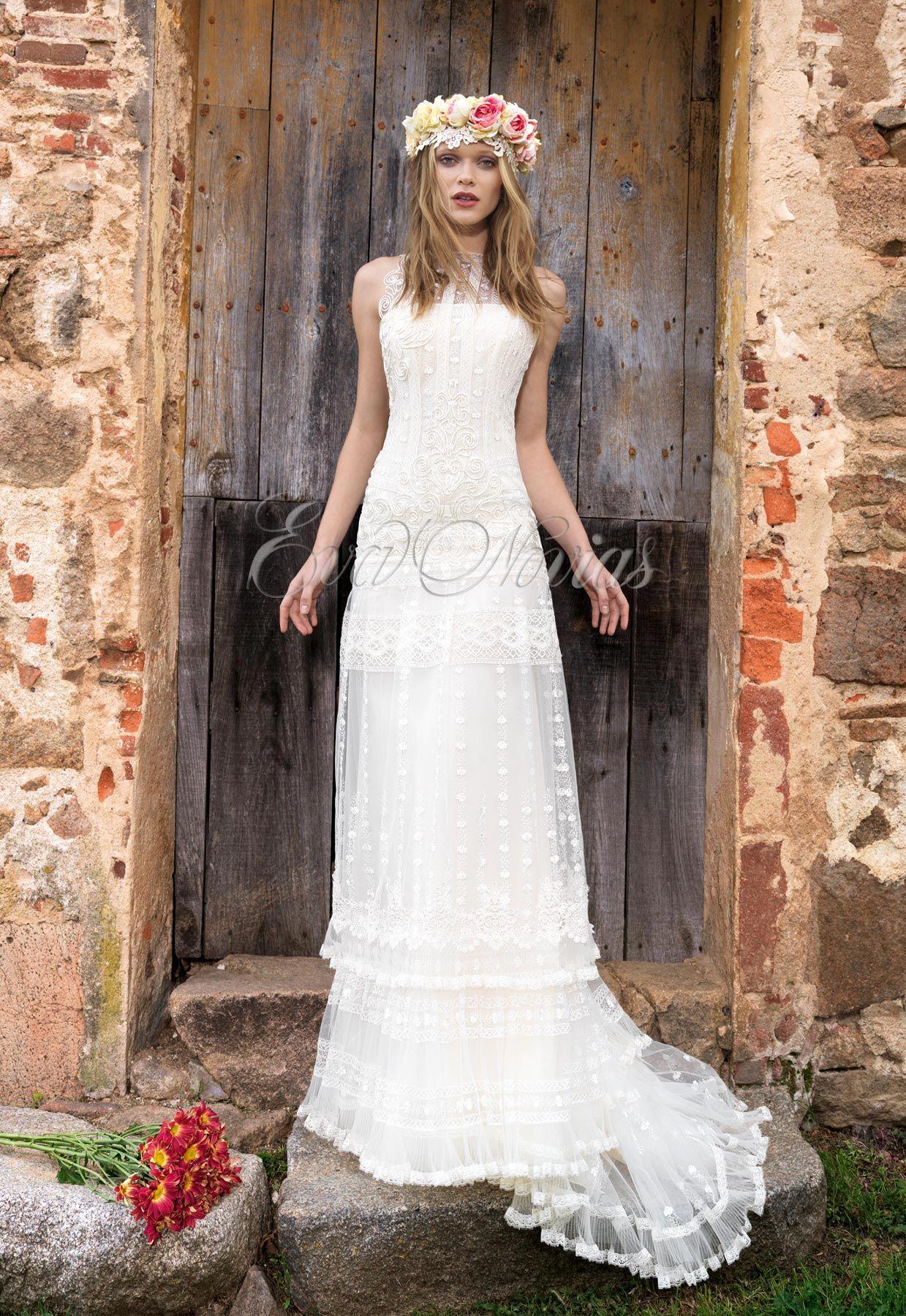 Mañana vestido de novia yolan cris modelo anet wedding dresses