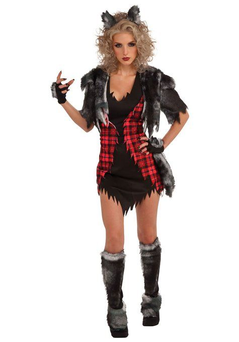 Female Werewolf Costume Adult Halloween Fancy Dress