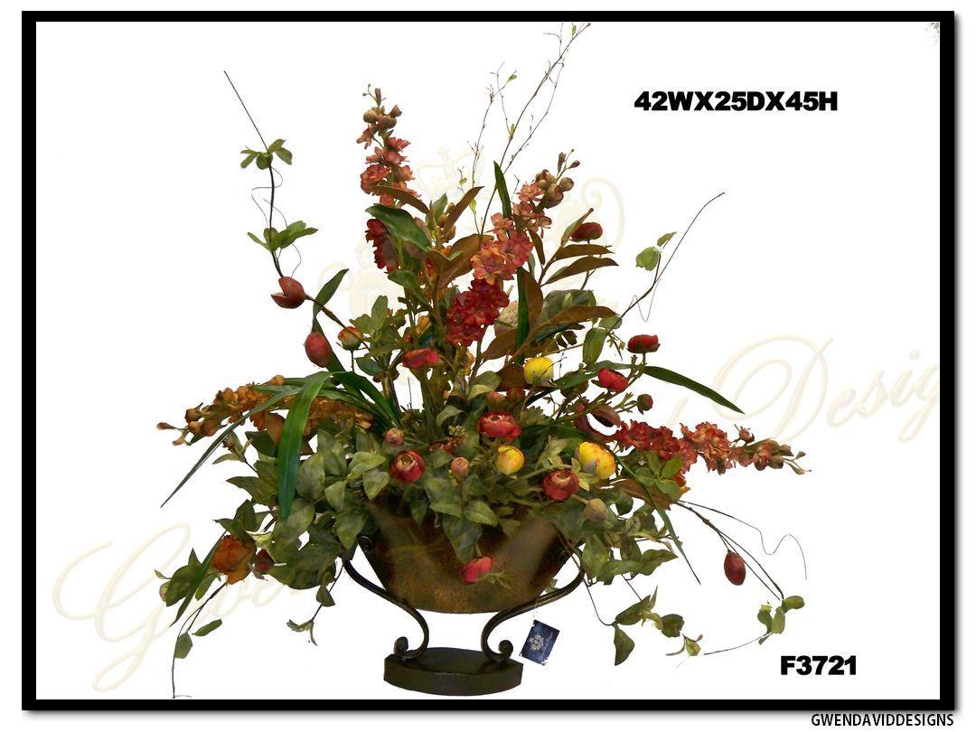 Tuscany Silk Flower Arrangement By Gwen David Designs Tuscany Silk