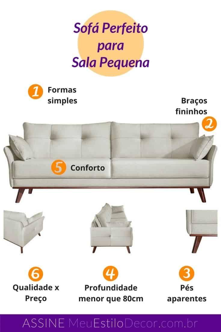Photo of El sofá perfecto para espacios pequeños • MeuEstiloDecor