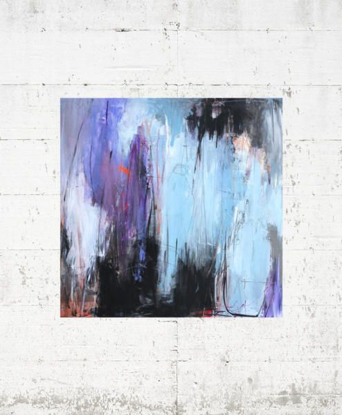 Kaffedate 120x90 Bettina Holst Malerier Abstrakte Malerier Og Abstrakt